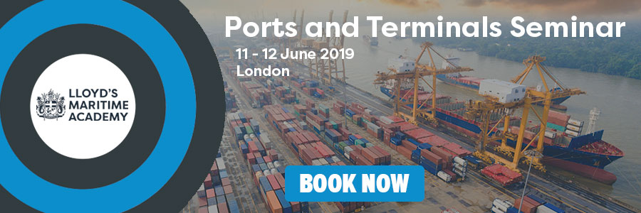Ports and Terminals display banner